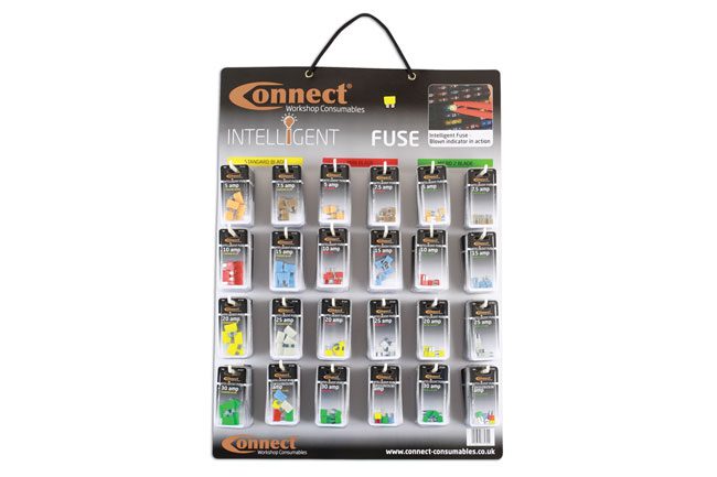 ~/items/xlarge/ image of Connect Workshop Consumables | 37130 | LED Blade Fuse Wall Rack Complete with 144 Blisters
