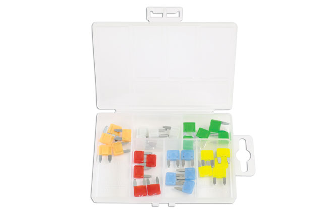 ~/items/xlarge/ image of Connect Workshop Consumables | 37157 | LED Mini Blade Fuse Assorted Box - 30 Pieces