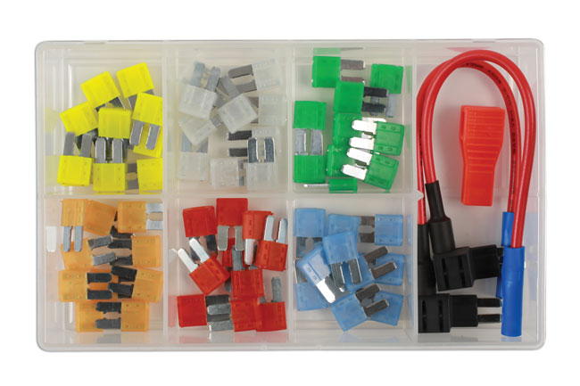 37159 Micro 2 Blade Fuse & 2 Fuse Holders Assorted Box 63pc