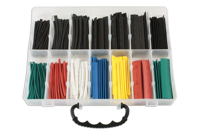 37198 Assorted Box of Coloured Heat Shrink Box 250pc