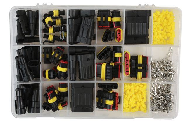 ~/items/xlarge/Overhead image of Connect Workshop Consumables | 37225 | Assorted Automotive Electric Supaseal Connector Kit - 424pc
