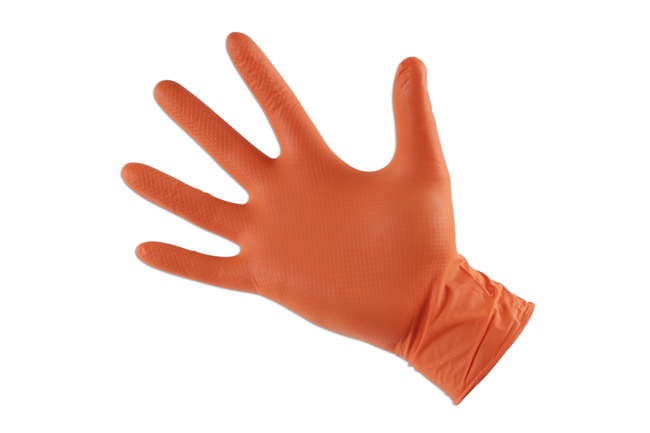 ~/items/xlarge/SingleGloves image of Connect Workshop Consumables | 37300 | Grippaz Medium Orange Nitrile Gloves Box -50 Pieces/25 Pairs