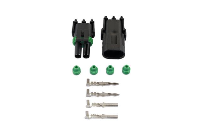 37327 Automotive Electrical Delphi Connector Kit 2 Pin - 10 Pieces