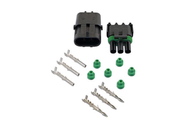 37328 Automotive Electrical Delphi Connector Kit 3 Pin - 14 Pieces