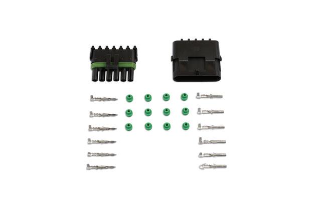 37331 Automotive Electrical Delphi Connector Kit 6 Pin 26pc