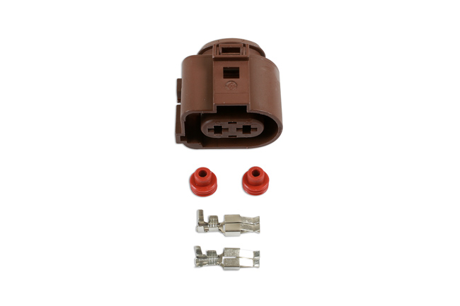 37392 VW Electrical Female Connector 4.8mm 2 Pin Kit - 25 Pieces