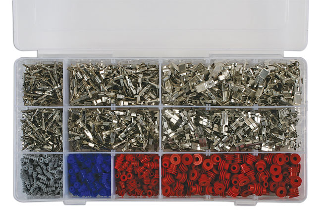37399 Assorted Non Insulated VW Terminals/Seals - 1200 Pieces