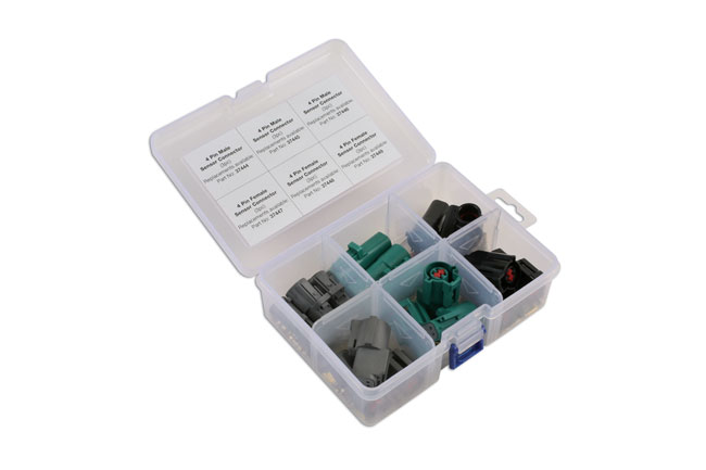 ~/items/xlarge/ image of Connect Workshop Consumables | 37411 | Assorted Ford Oxygen Sensor Electrical Connector Kit - 18 Pc