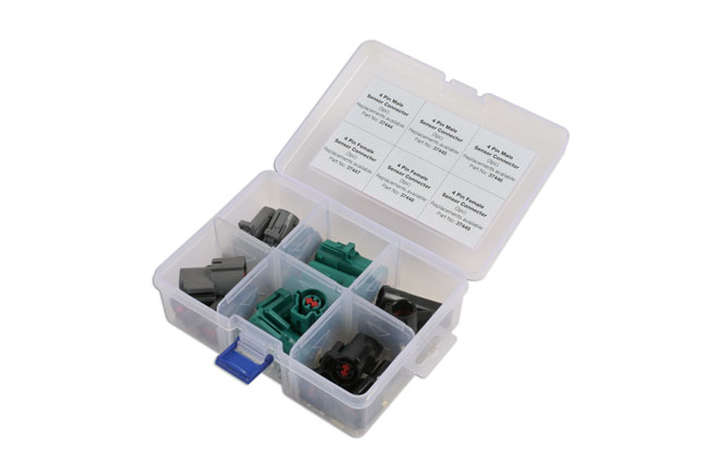 ~/items/xlarge/Left image of Connect Workshop Consumables | 37411 | Assorted Ford Oxygen Sensor Electrical Connector Kit - 18 Pc