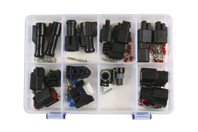 ~/items/xlarge/Overhead image of Connect Workshop Consumables | 37412 | Assorted Ford Electrical Connector Kit - 19 Pieces