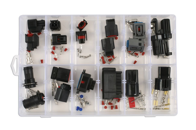 ~/items/xlarge/Overhead image of Connect Workshop Consumables | 37413 | Assorted Ford Electrical Connector Kit 20 Pce