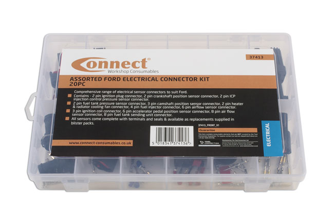 ~/items/xlarge/Packaging image of Connect Workshop Consumables | 37413 | Assorted Ford Electrical Connector Kit 20 Pce