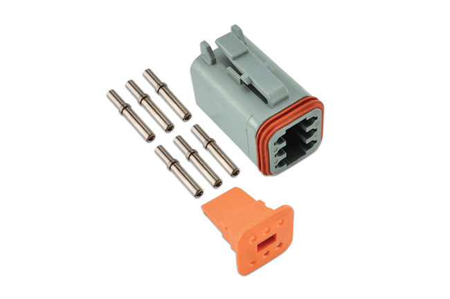 ~/items/xlarge/Group image of Connect Workshop Consumables | 37501 | Deutsch 6 Pin Plug Connector Kit - 8 Pieces