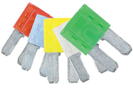 Product Image of Connect Workshop Consumables LED Micro 2 Blade Fuse Assorted Pack 10/15/20/25/30amp 5 Pc Part No. 37154