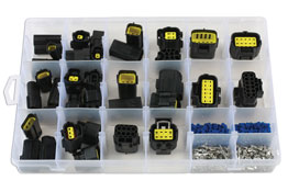 Product Image of Connect Workshop Consumables Assorted AMP Econoseal J Series Connectors - 338 Pieces Part No. 37417