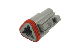 Product Image of Connect Workshop Consumables Deutsch 3 Pin Plug Connector Kit - 5 Pieces Part No. 37499