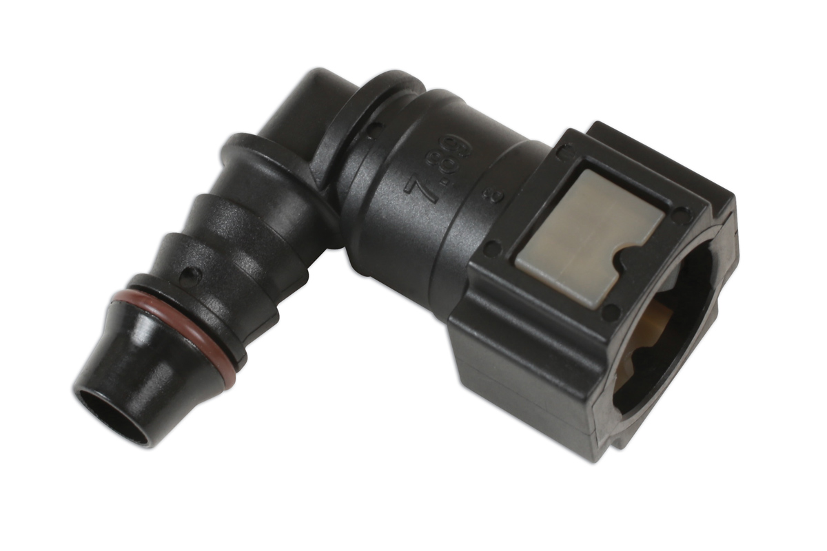 Fuel Line Angled Quick Connectors 7 89mm x 8mm - Pack 3